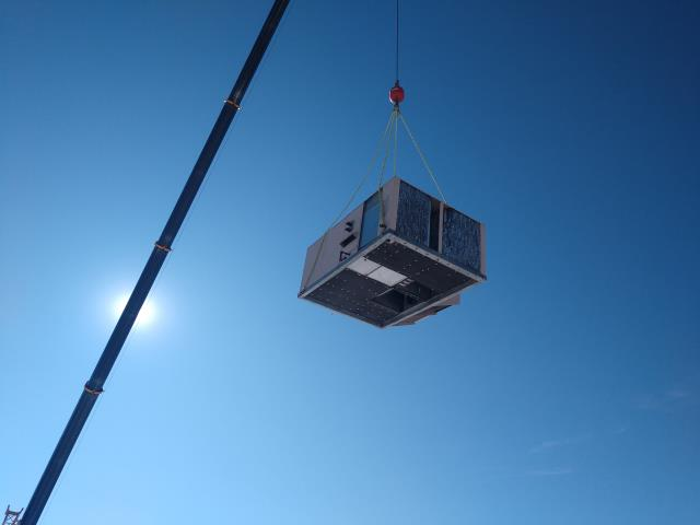 Fort Collins, CO - New HVAC units being installed at a Warehouse