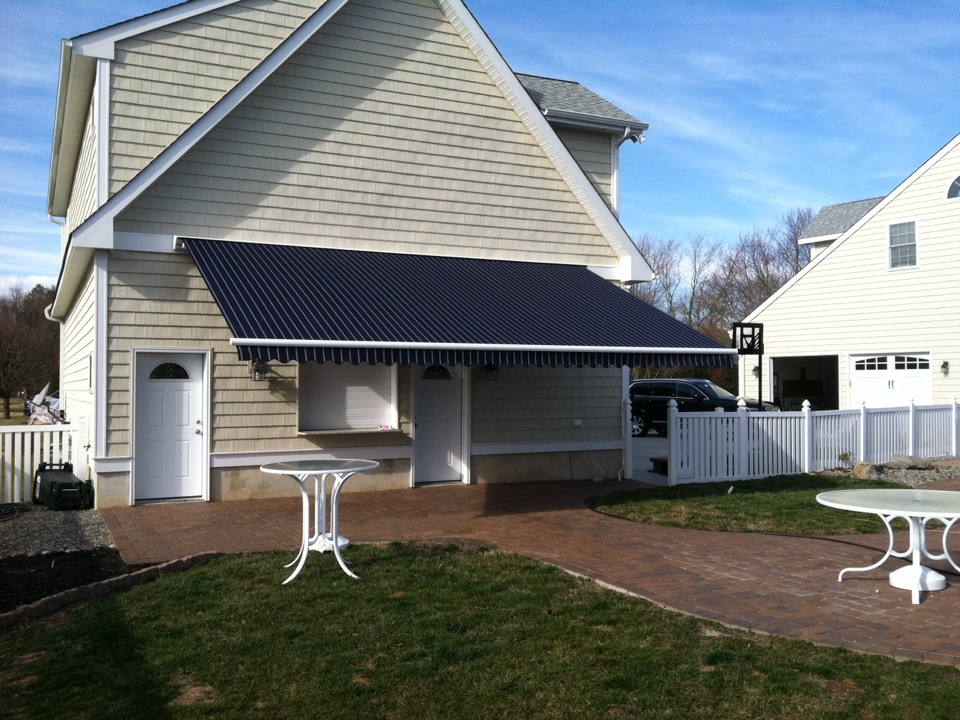 Cape May, NJ - A 22Ft Aristocrat Craftbilt Estate Retractable Awning by South Jersey's Leading Retractable Awning Dealer MiamiSomers.
