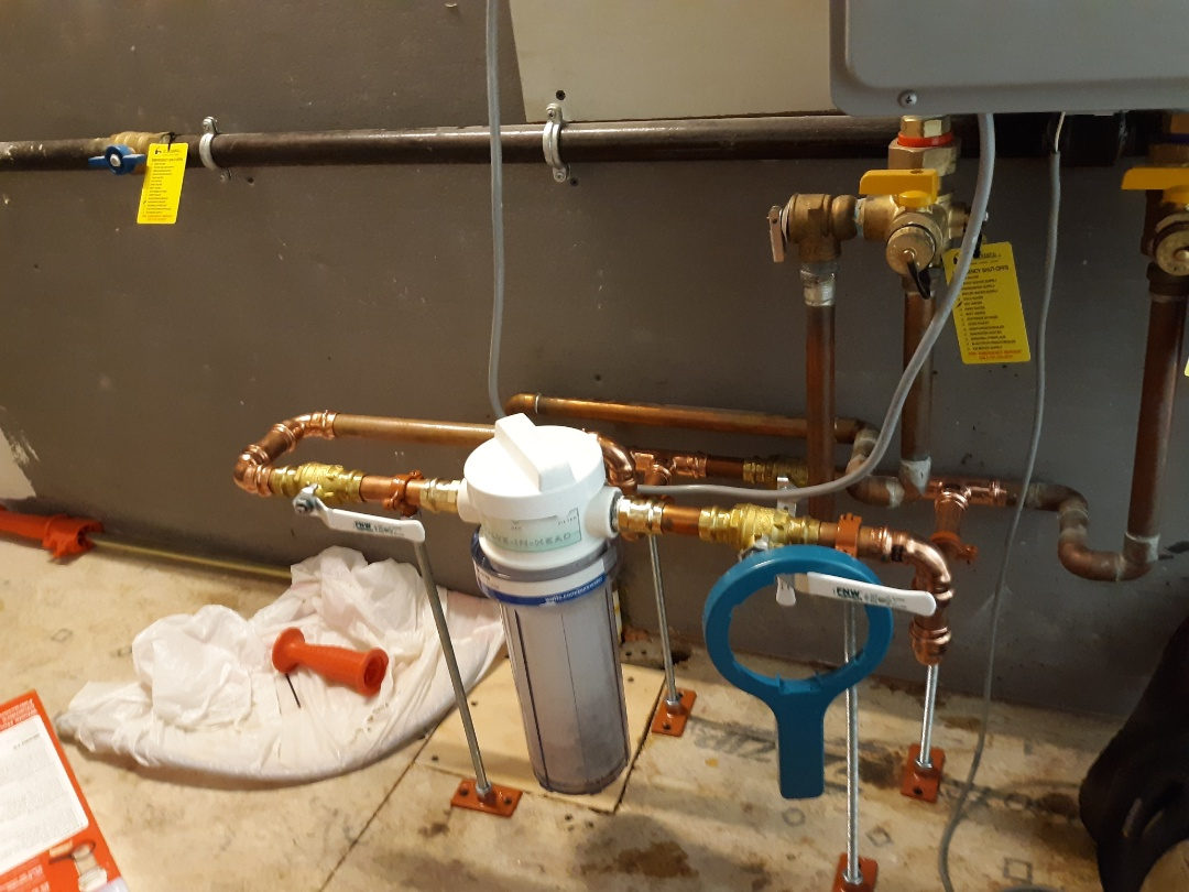 Cambridge, MA - Water filter installation