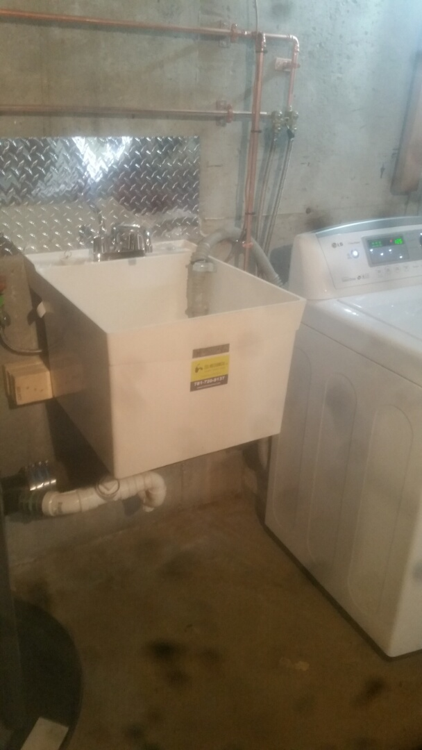 Framingham, MA - Install new laundry and sink