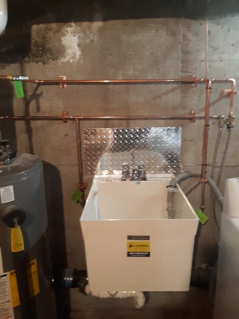 Framingham, MA - Laundry sink installation