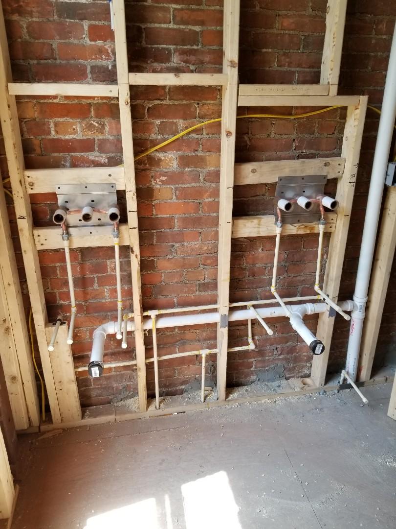 Boston, MA - Rough plumbing