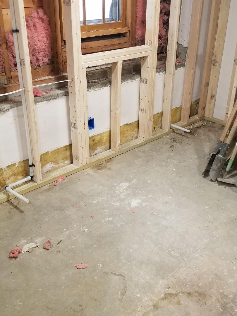Framingham, MA - Installing baseboard heat