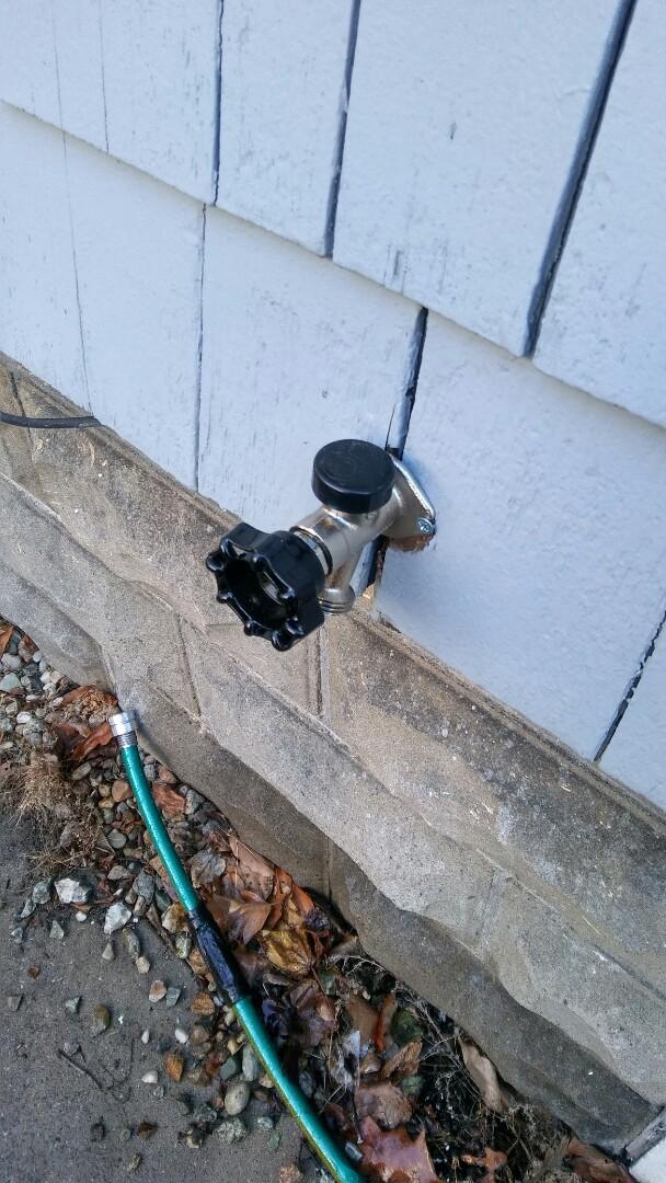 Newton, MA - Outside faucet