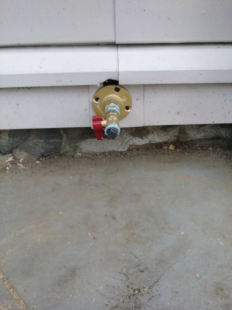 Waltham, MA - Gas pipe installation for outside grill