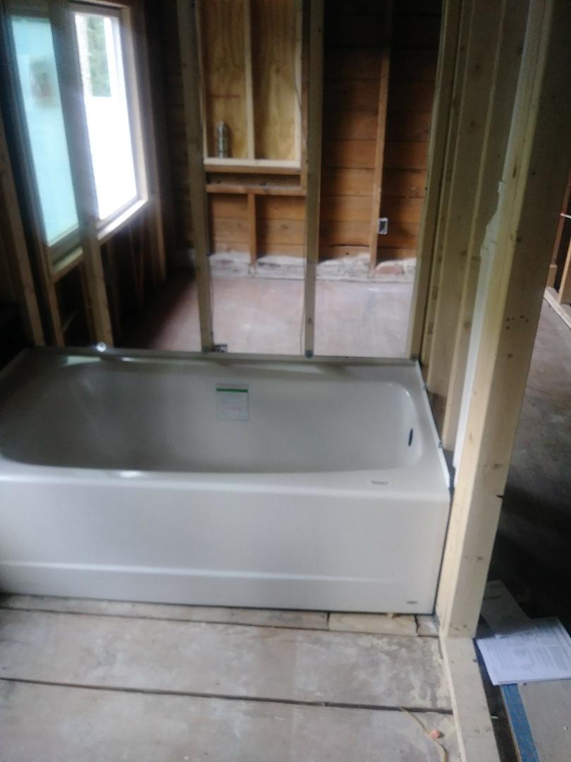 Newton, MA - Installation of a tub