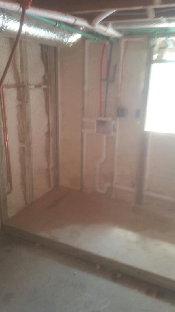 Newton, MA - Installing basement laundry