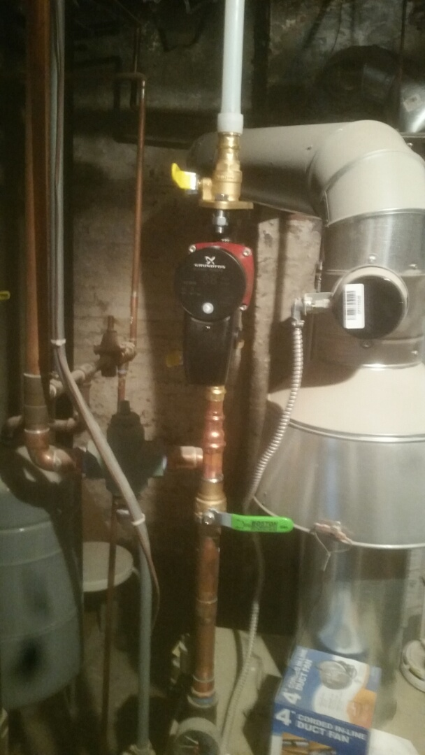 Brookline, MA - Installing heat loops for air handler