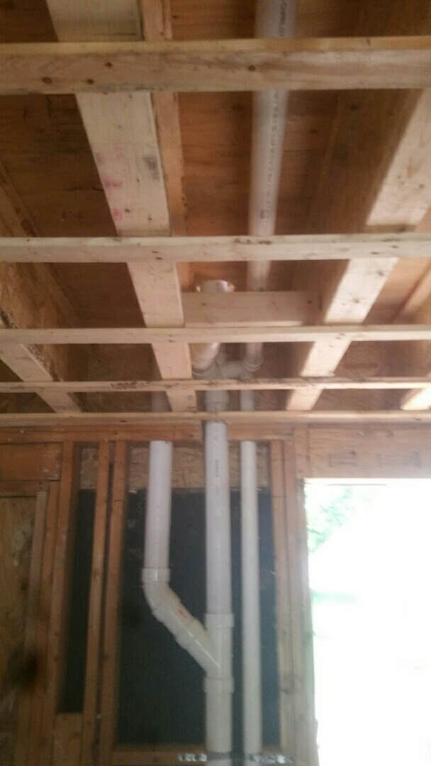 Winchester, MA - Installing rough plumbing