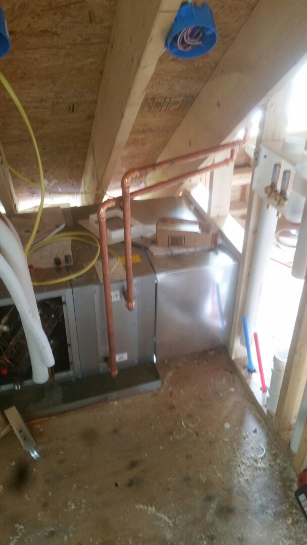 Winchester, MA - Tie in heat loop on air handler