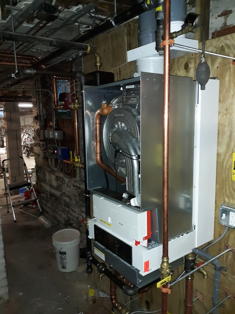 Cambridge, MA - Gas piping and venting for gas boiler