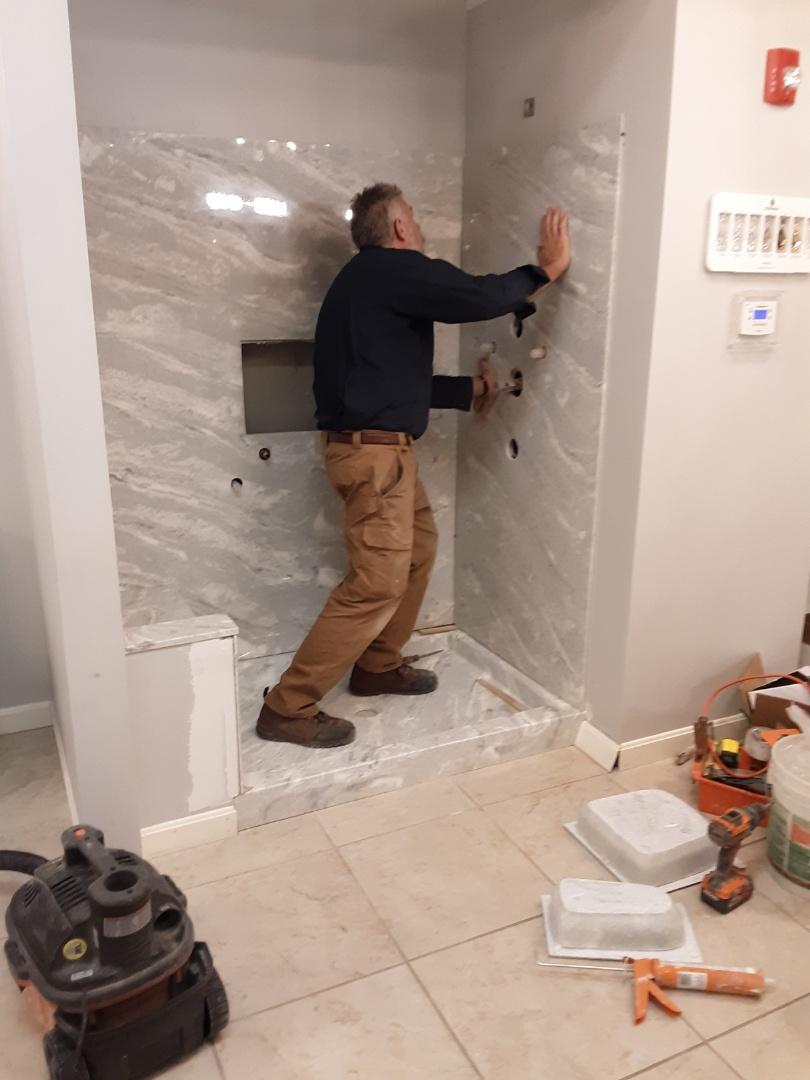 Needham, MA - Install sandstone