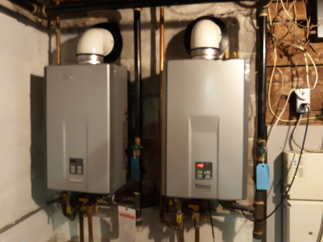Natick, MA - Rinnai tankless waterheater install