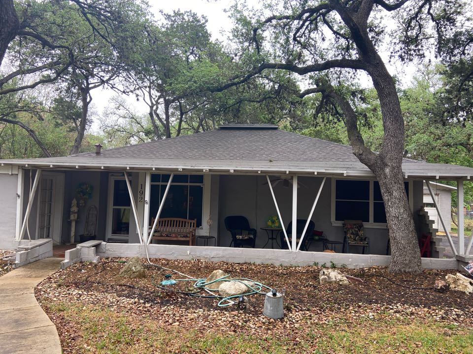New Braunfels, TX - We installed Weathered Wood NS GAF shingles on a single story home in New Braunfels.