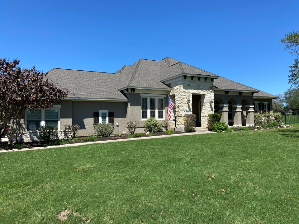 New Braunfels, TX - We installed Timberline NS Weathered Wood GAF shingles on a single story home in New Braunfels.