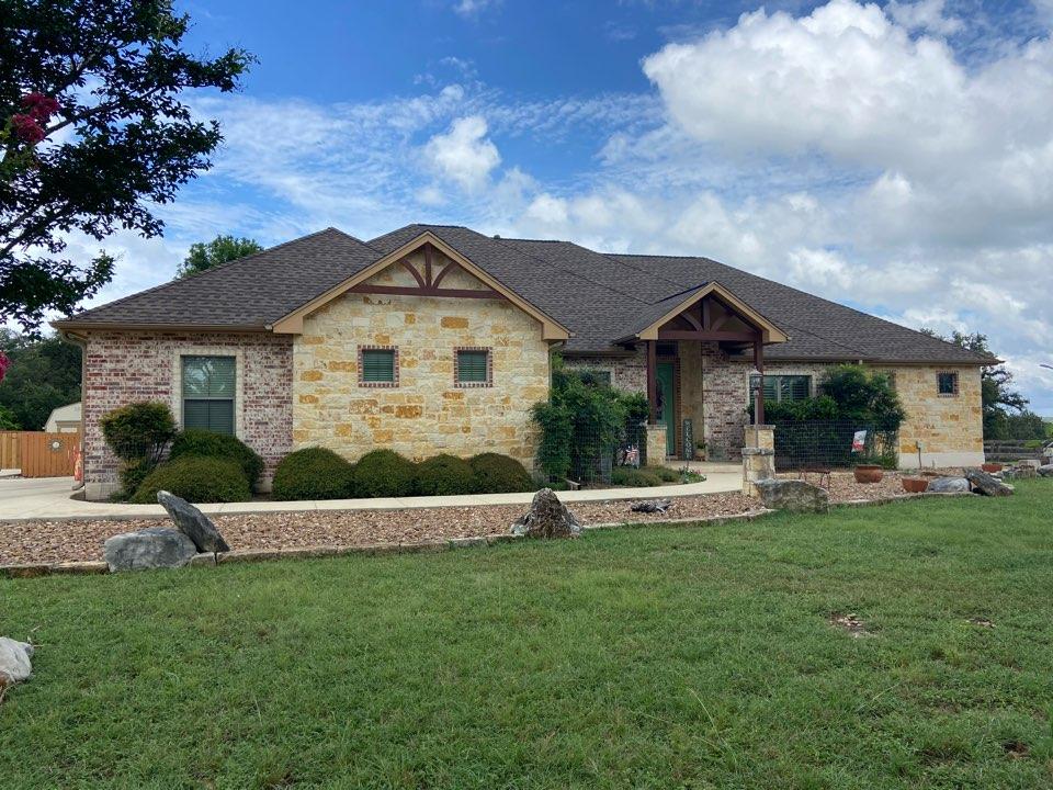 New Braunfels, TX - We installed Barkwood GAF HDZ shingles on a single story home in New Braunfels.