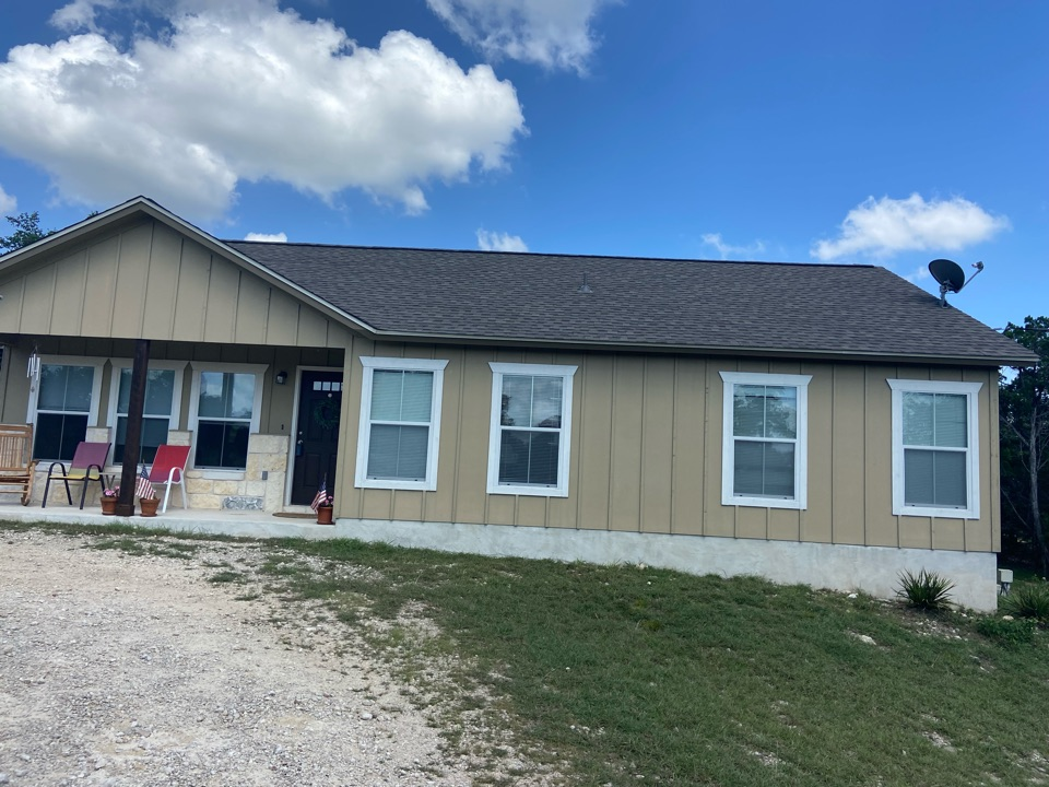 Spring Branch, TX - We installed Weathered Wood GAF NS shingles on a single story home in Canyon Lake.