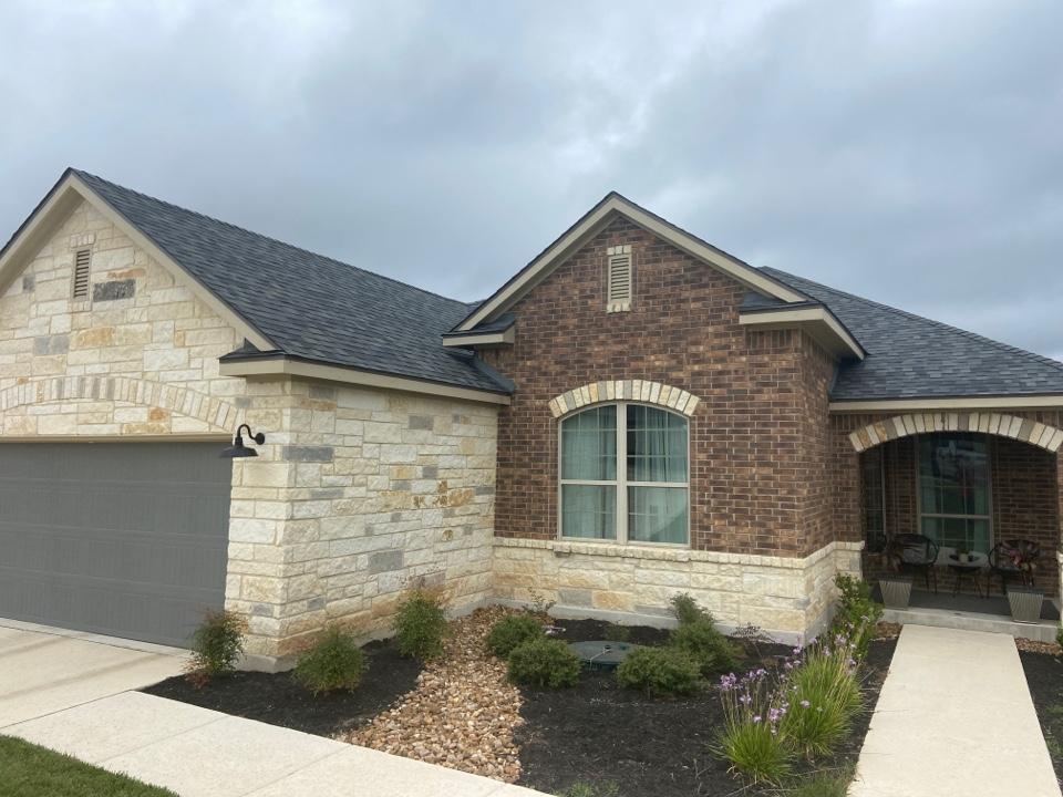 Boerne, TX - We installed OC Estate Grey shingles on a single story home in Boerne.