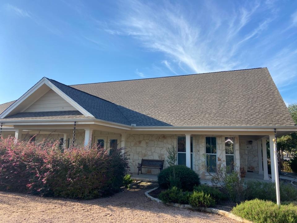 New Braunfels, TX - We installed Weathered Wood GAF HDZ shingles on a single story home in New Braunfels.