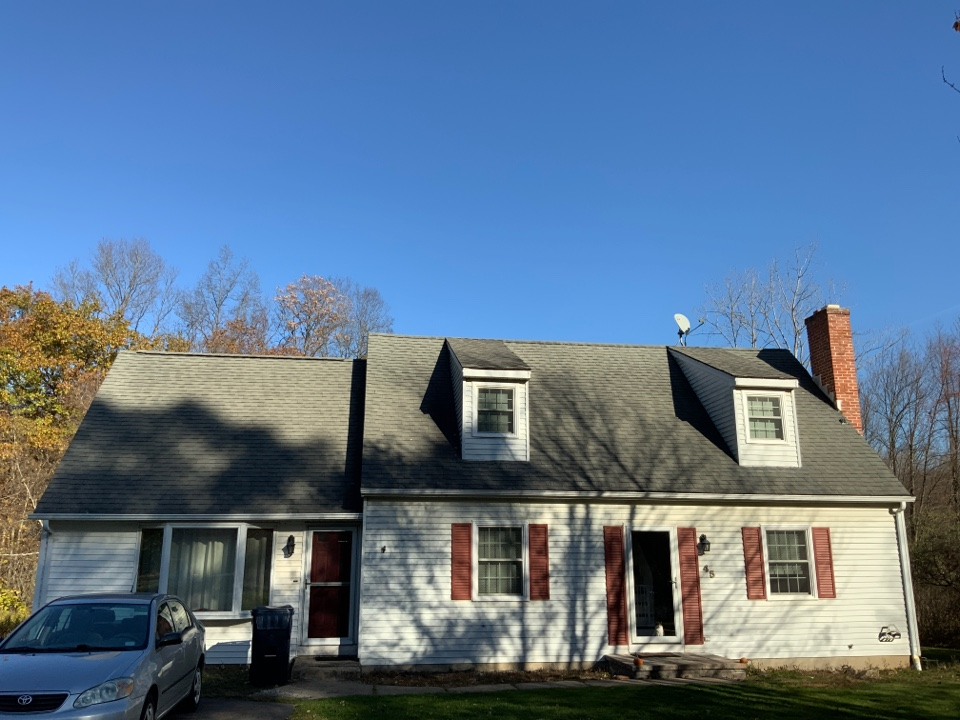 Installing a new roof and new vinyl and trim on this home