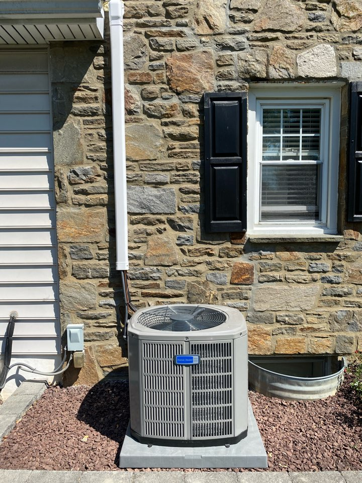 West Chester, PA - Finishing up a beautiful American Standard air conditioning unit