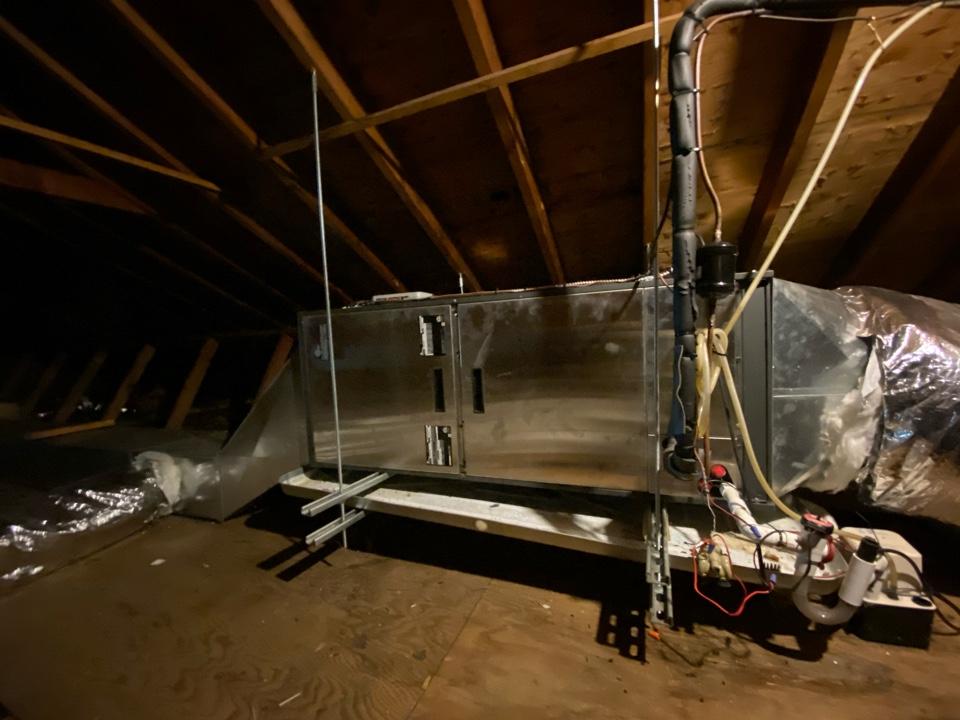 Pottstown, PA - Performing maintenance on a geothermal split unit
