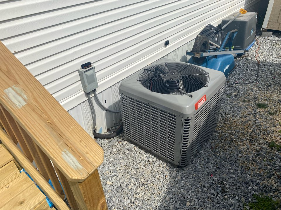 Frazer, PA - Replaced the outside condenser at this house due to damage caused to the old unit. We had this unit up and running the same day they called to ensure they stay cool this summer.