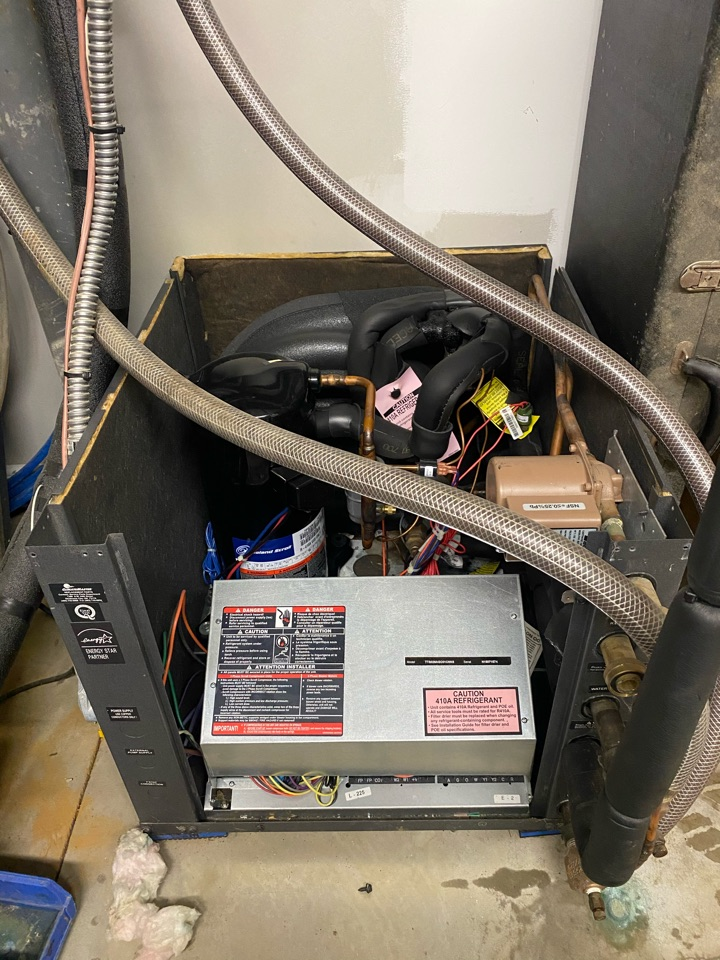West Chester, PA - Servicing this climate master geothermal split system.