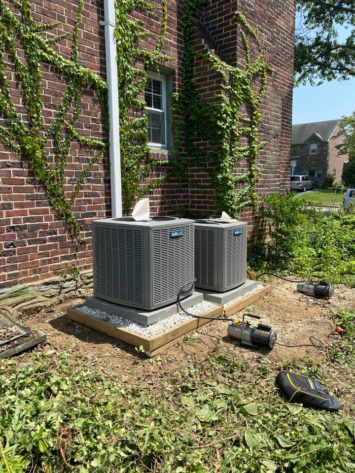 Havertown, PA - Move two outdoor condensers