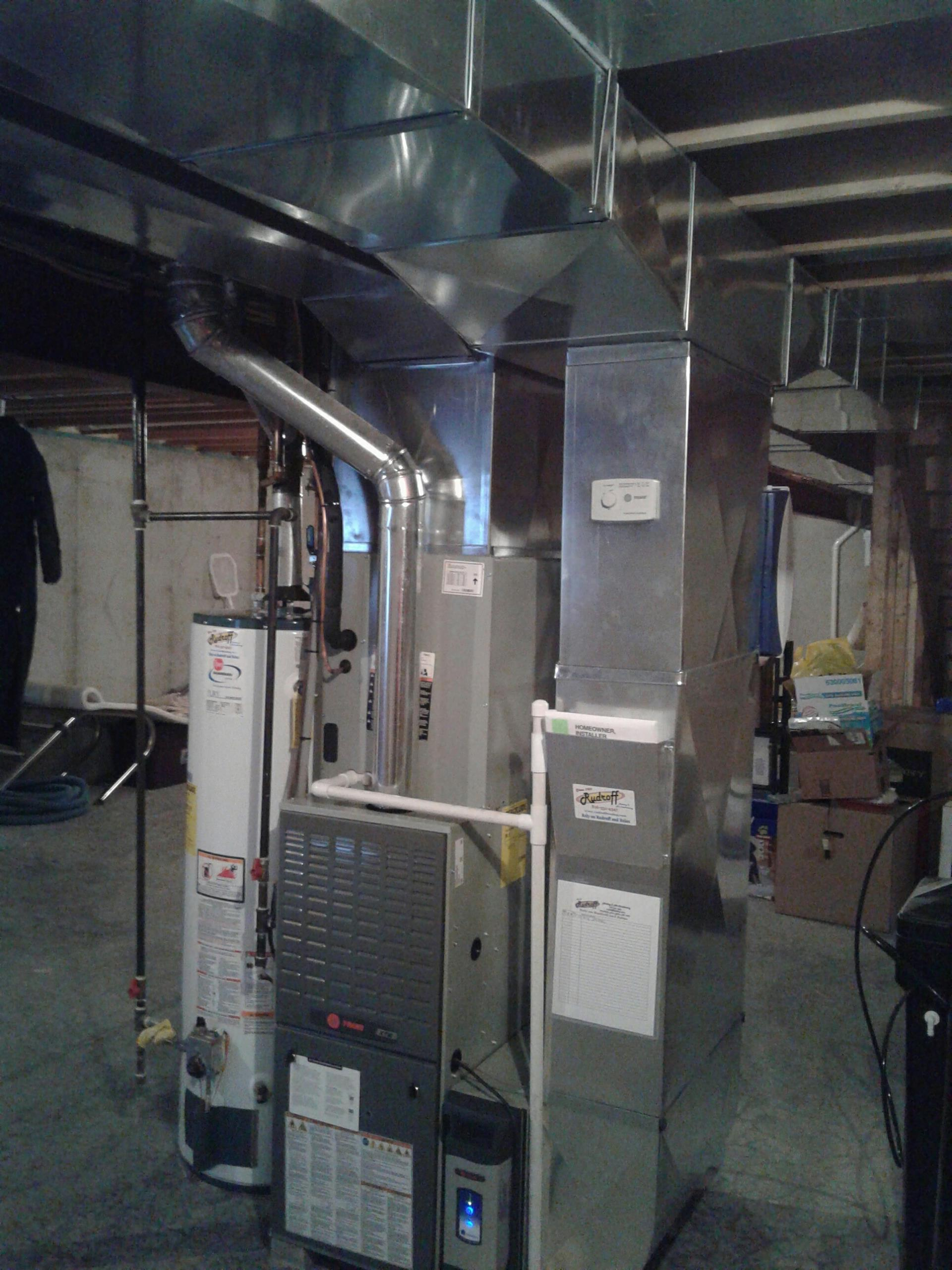 Pleasant Hill, MO - Install furnace, air conditioner, thermostat, electronic air filter, and humidifier.