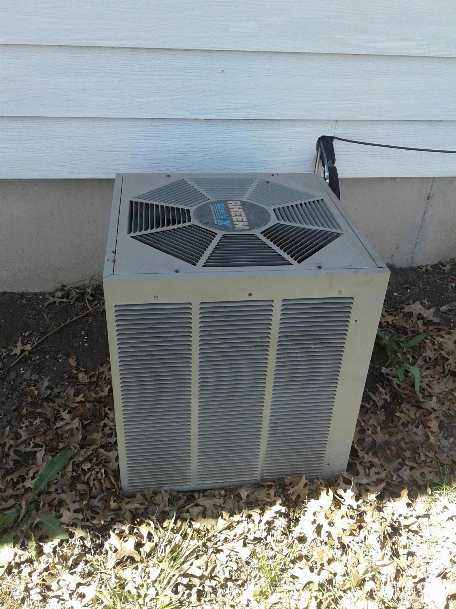 Harrisonville, MO - Spring a/c Tune up Rheem air conditioner