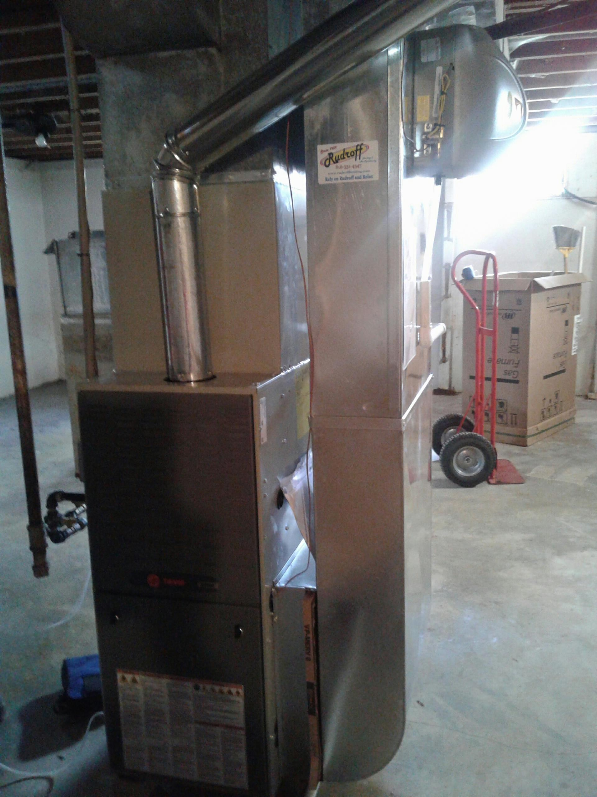 Harrisonville, MO - Install furnace, air conditioner, filter boot, humidifier, and thermostat