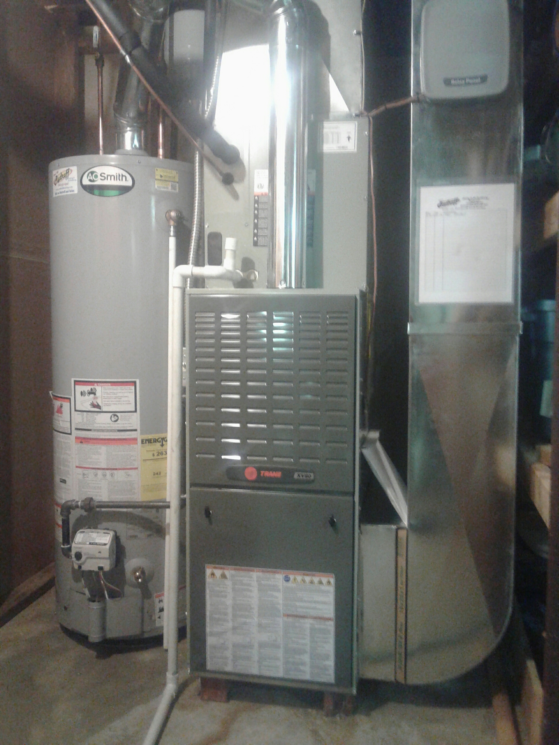 Harrisonville, MO - Install furnace, air conditioner, water heater,and thermostat
