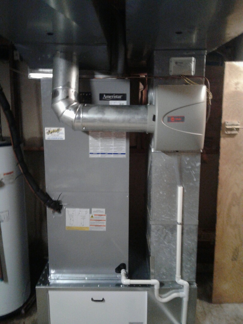 Greenwood, MO - Install Ameristar heatpump, air handler, humidifier, and thermostat