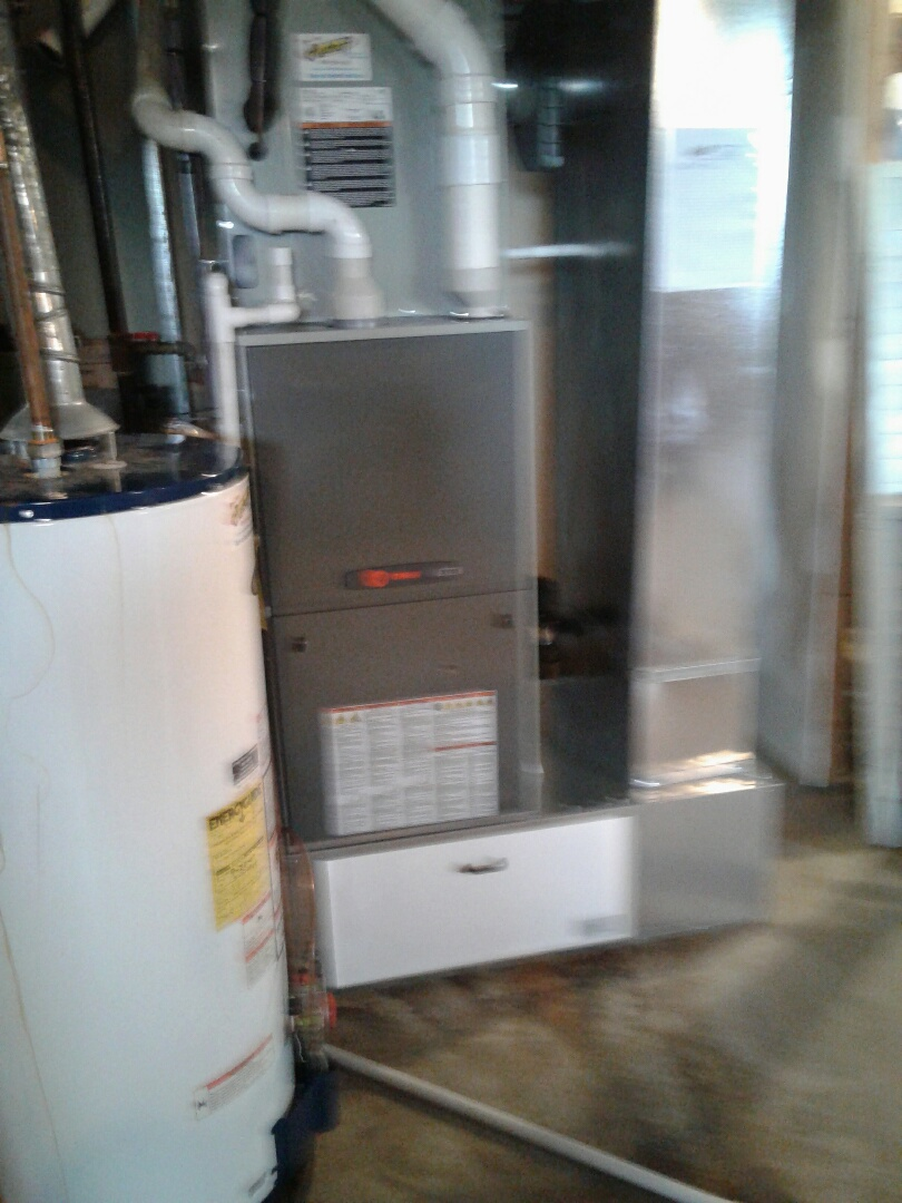 Harrisonville, MO - Install Trane furnace,  air conditioner, filter box, return drop,  and thermostat