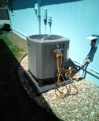 Raymore, MO - Perform maintenance on Trane heatpump