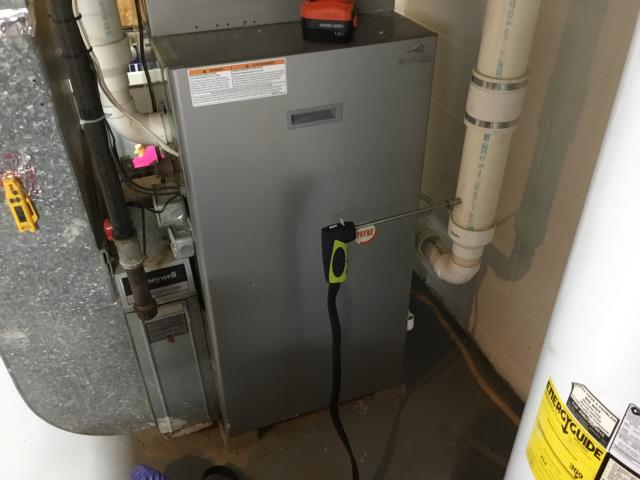 Dayton, OH - Performed tuneup on gas furnace. Cleaned flame sensor and found that the inducer motor was making noise. Discussed repair/replacement options. The furnace was operational at departure.