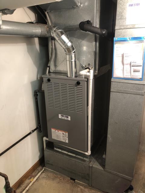 Dayton, OH - Installing a Five Star 80% 110,000 BTU Gas Furnace unit for the Customer.