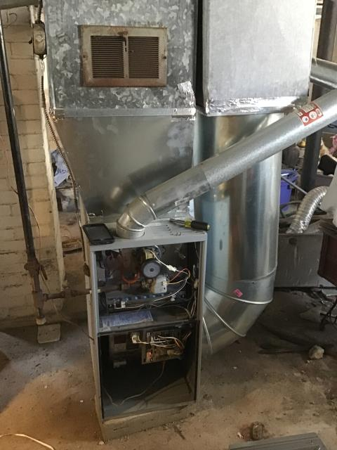 Trotwood, OH - Removed hose to open pressure switch on Ducane furnace. All is working properly at this time.