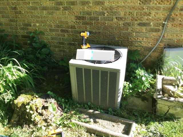 Wilberforce, OH - here for a no cool on a 15-year-old air-conditioning system. On arrival I checked outdoor unit and found the capacitor is missing. Someone has removed it. Spoke with homeowner and she advised me that another company was out recently and told her she had a few different problems and they must have taken the capacitor with them.