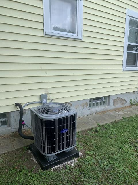Fairborn, OH - I installed a new Carrier 80% 70,000 BTU Gas Furnace & Carrier 13 SEER 2 Ton Air Conditioner