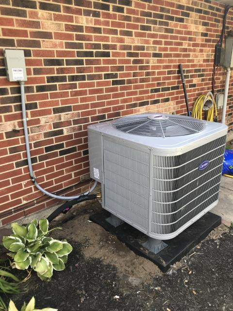 Huber Heights, OH - I installed a new Carrier 16 SEER 3 Ton Heat Pump