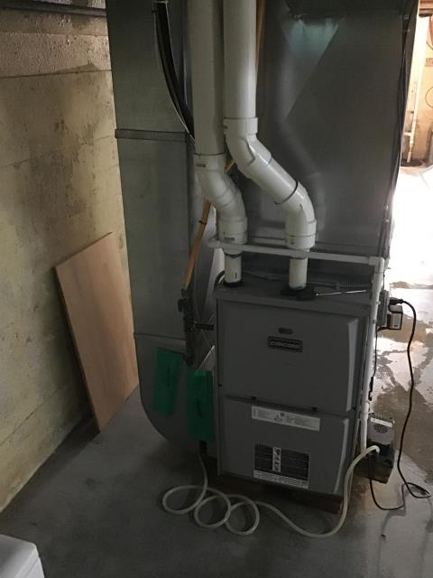 Huber Heights, OH - a 2010 Concord Furnace that had rusted through. Also located several holes inside the furnace heat exchanger.