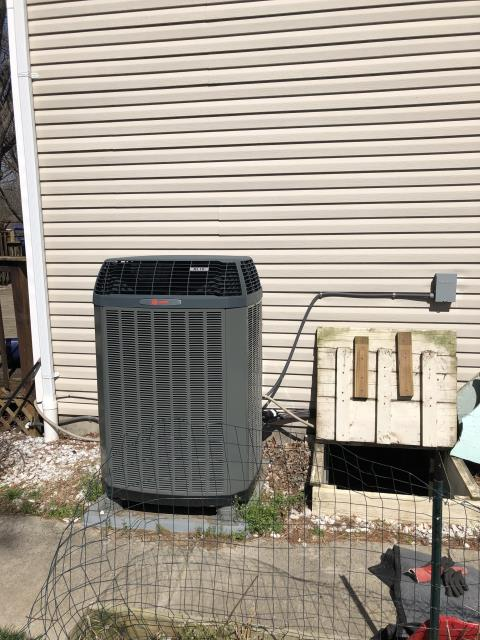 Jamestown, OH - Found 2015 Trane Heat Pump unit to be overcharged. Adjusted charge down to a 12° sub cool. Even after doing this my superheat is still up over 20° and running around 22° even though it should be running around 14°. TXV at indoor coil does not seem to be functioning properly, and temperature split is poor. Will replace suction line and TXV for indoor coil.