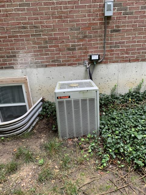 Springboro, OH -  I found condensate drain plugged, had to blow it out with nitrogen to even get it flowing, this drain line is very dirty and full of debris. Blew out the best I could and water is draining now but not draining very quickly.