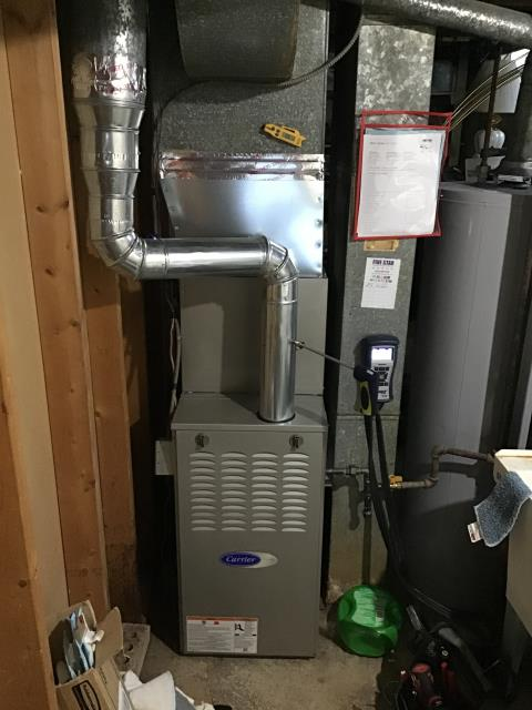 Trotwood, OH - 	I am Performing our Five Star Tune-Up & Safety Check on a 2019 Carrier  Gas Furnace. All readings were within manufacturer's specifications, unit operating properly at this time.