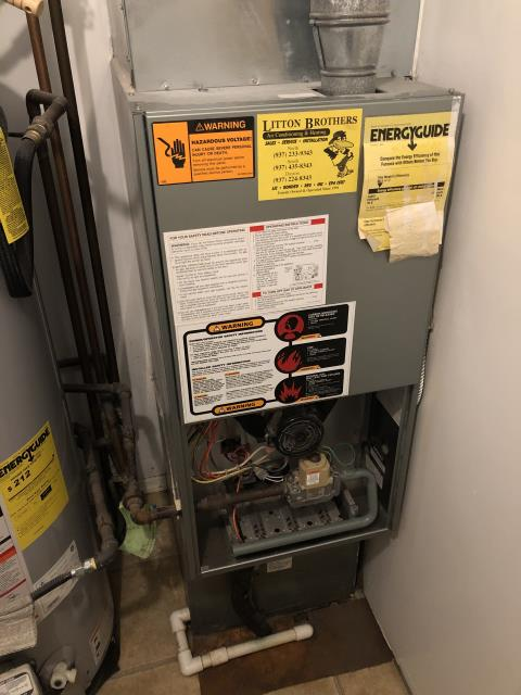 Huber Heights, OH - I performed a diagnostic on a Ruud gas furnace that has a cracked ignitor. The client will not move forward with repairs.