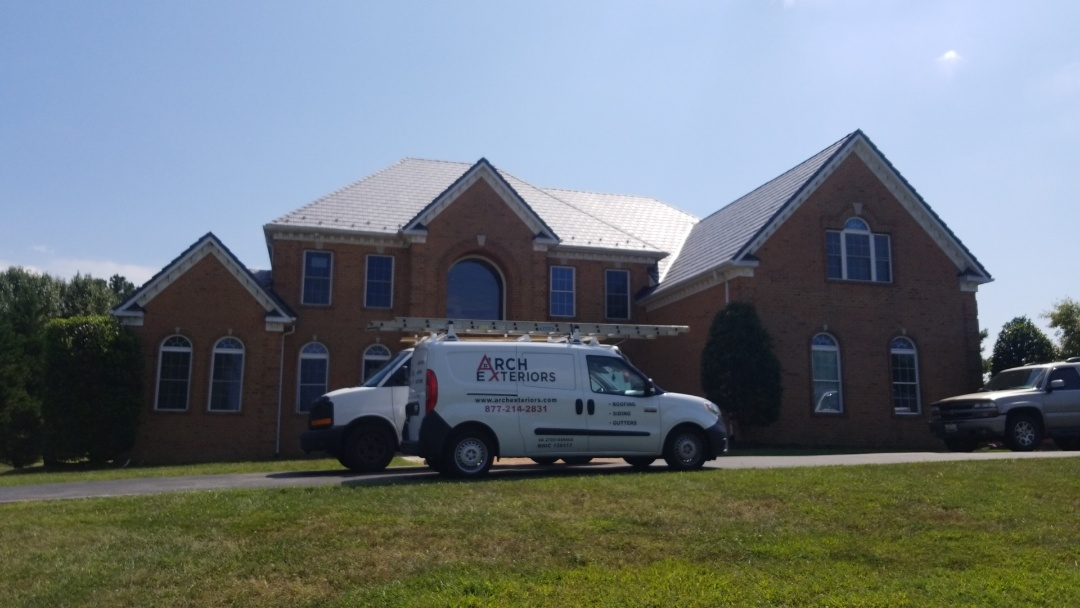 Bowie, MD - Just going over our install and collecting final payment from another happy Arch Exteriors customer