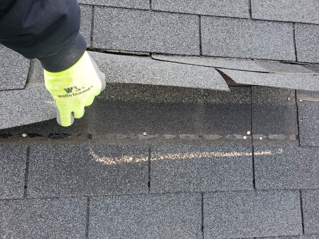 Lovettsville, VA - High winds from February 7th storms cause severe damage to area roofs.  A no cost 25 minute inspection will let you know if you qualify for a full roof replacement through your insurance.