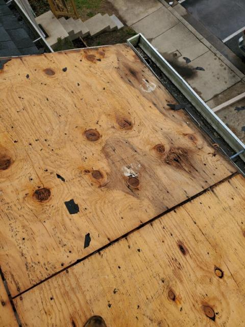 Hyattsville, MD - After a decking inspection during this roof replacement we found that ice damming was the cause of the roof failure. With ice and water shield included in the new roof system, this customer can have the peace of mind that the new roof will last for years to come
